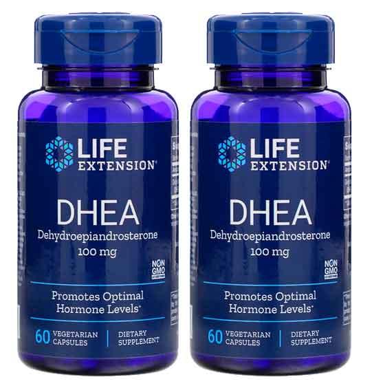 Dhea Life Extension 100 mg, 60 Capsulas