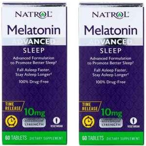 2X Melatonina 10mg Natrol Liberação Rápida e Gradual – 60 comprimidos Força Máxima