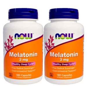 Melatonina 3 mg – Now Foods – 180 cápsulas
