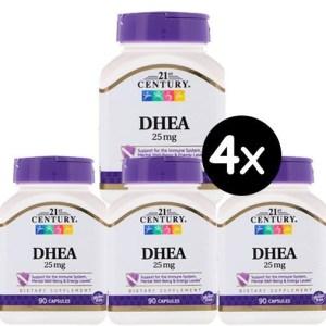 4X Dhea 21st century 25mg 90 capsulas