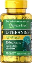 L-Theanina, Rapida Dissolução, 200 mg por porção, 90 comprimidos