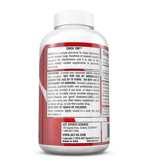 DHEA 100 mg Micronizada 60 Cápsulas AST Sports Science