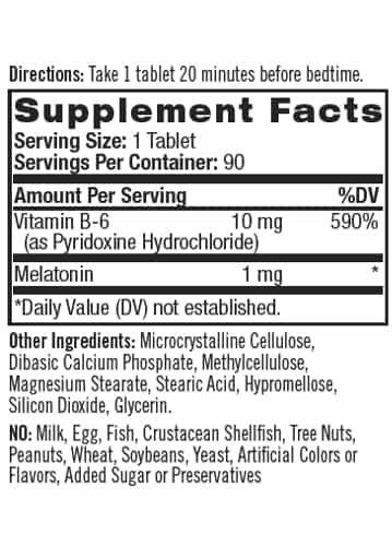 Melatonina 1mg Time Release (Liberação Lenta) – Natrol – 90 comprimidos