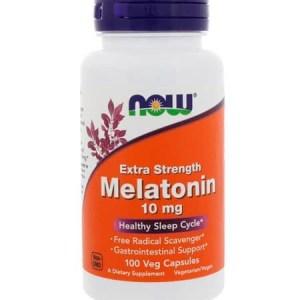 Melatonina 10mg Força Extra, Now Foods, 100 Capsulas vegetarianas