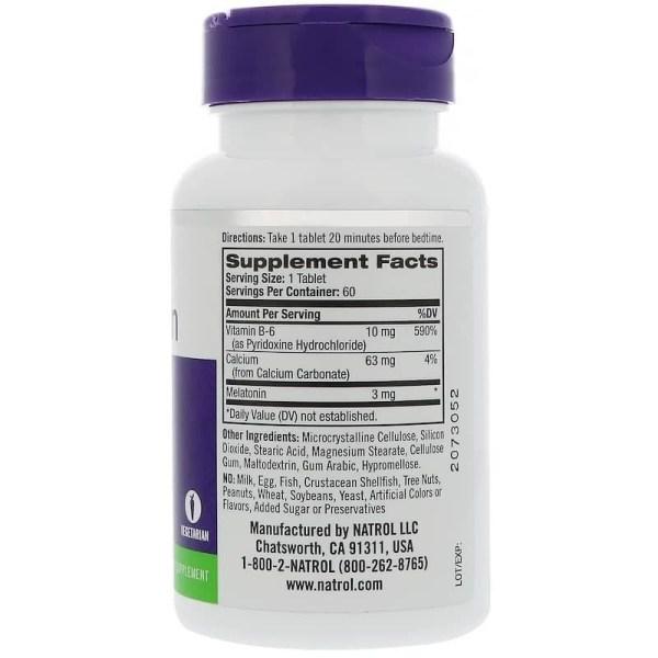 Melatonina 3 mg Natrol 120 Comprimidos