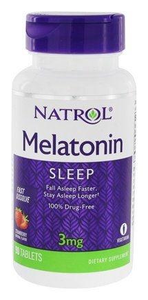 Melatonina 3mg Natrol [Sublingual] Fast Dissolve (90 comprimidos) – Sabor Morango