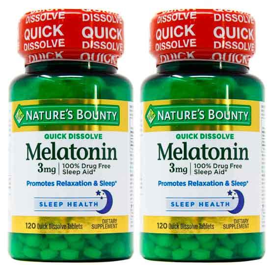 2 melatonina natures bounty