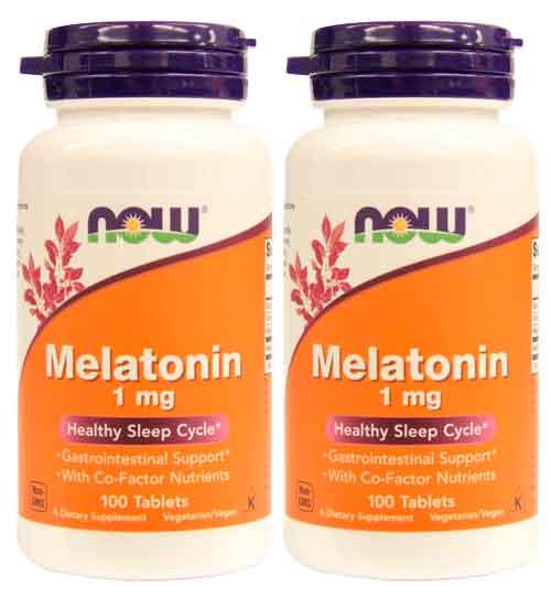 Melatonina 1mg, Now foods, 100 comprimidos