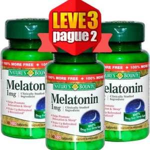 Melatonina Natures Bounty 1mg 180 Comprimidos 3 Frascos