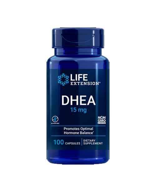 Dhea 15mg Life Extension, 100 capsulas – Leve 3 Frascos