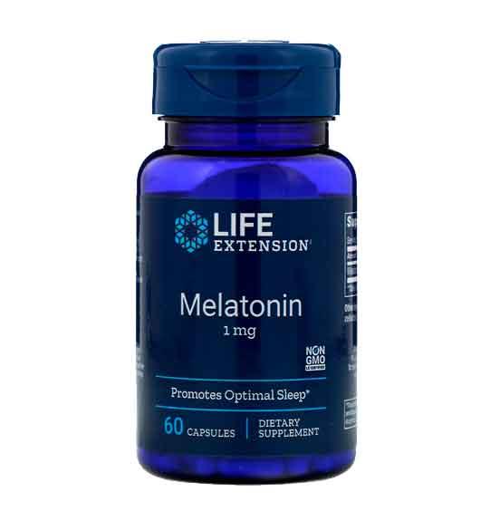 Melatonina Life Extension 1mg, 60 capsulas
