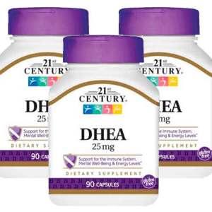 Dhea 21st century 25mg 90 capsulas