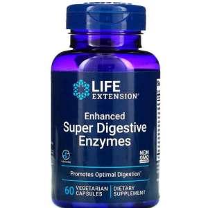 Super Enzimas Digestivas Aprimoradas, Life Extension, 60 Cápsulas