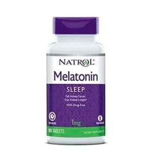 Melatonina 1mg Time Release (Liberação Lenta) – Natrol – 90 comprimidos – Leve 1 Frasco