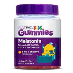 Melatonina Natrol Kids 1mg, A Partrir de 4 anos, 90 Gomas – Leve 1 Frasco