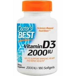 Vitamina D3 Doctor Best 2000 iu