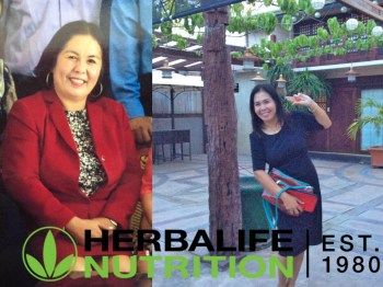 My mom after using Herbalife