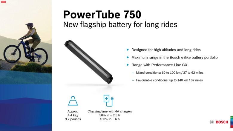 2022 Bosch PowerTube 750 batteri