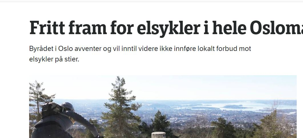 Elsykkel i Oslomarka – hvordan har det gått?
