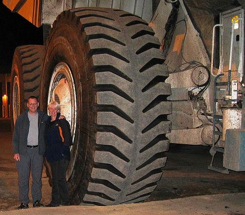 coal truck tire photo