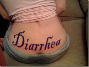 Stripper Branded with Diarrhea Tramp Stamp