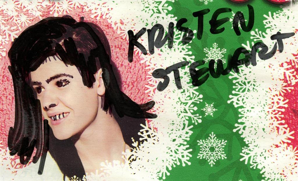 Justin Bieber as Kristen Stewart