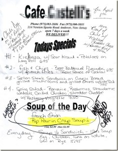 Menu Mishap: Restaurant Offers Rip Rourin CRAP Soup Special
