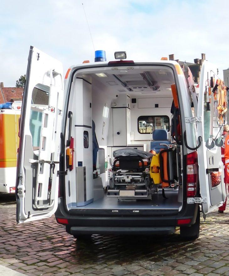 EMT Back of Open Ambulance