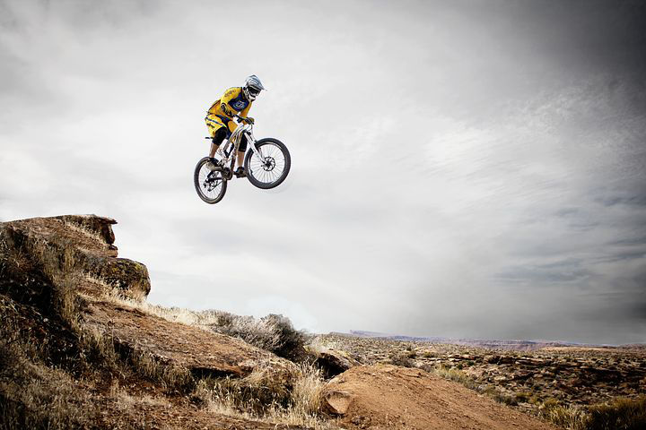 Biking Jump in Utah National Park