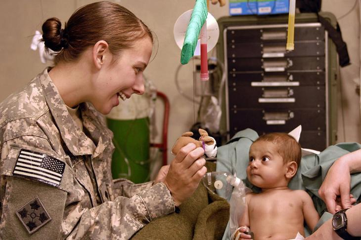 Pediatric Patient with US Medical Personnel