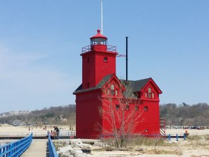 Big Red Lighthouse Holland Michigan