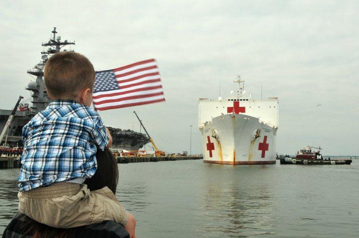 USNS Comfort Norfolk Virginia