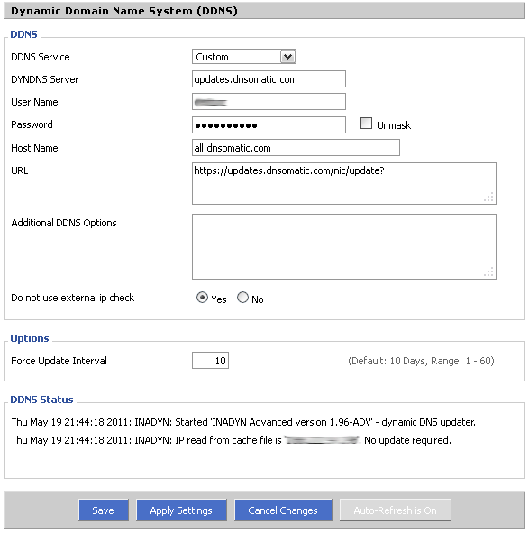 Using DD-WRT and DNS-O-Matic to Automatically Update DynDNS