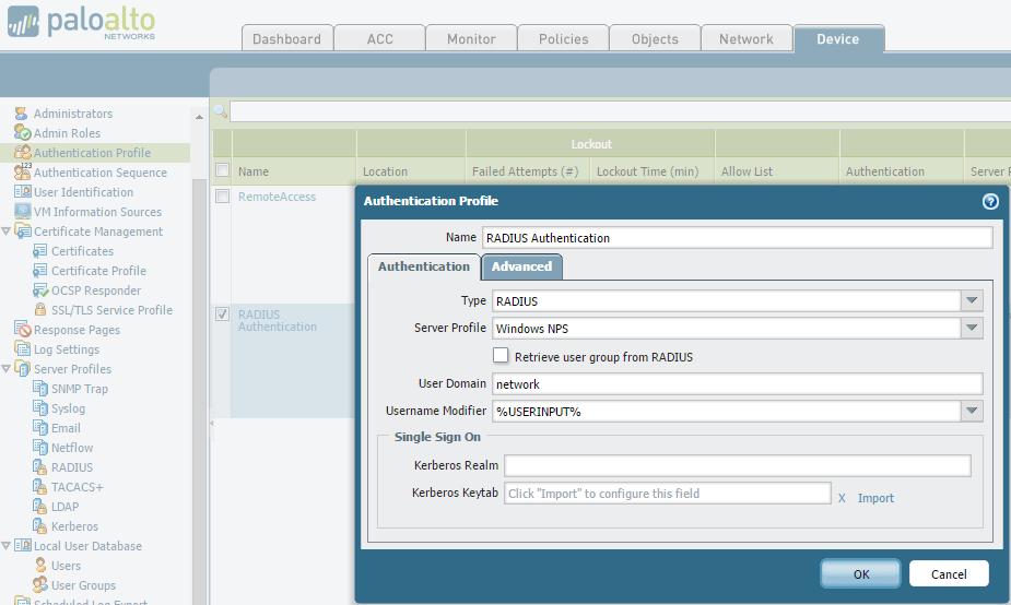 Palo Alto RADIUS Authentication with Windows NPS - emtunc's Blog