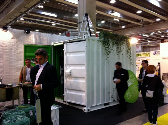 Off-grid Box system at GreenBuild SolarExpo Verona 2011