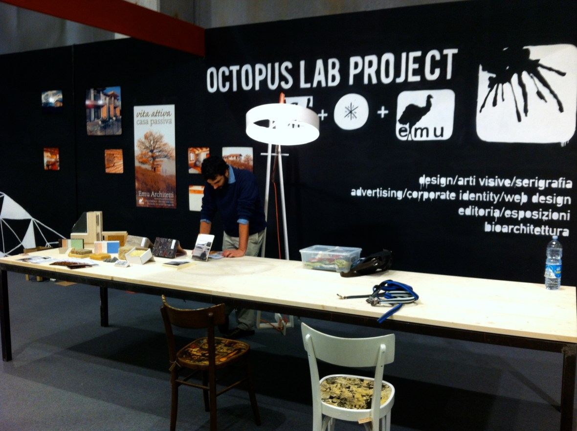 Emu Architects at Salone del Mobile in Parma, with Octopus Lab Project