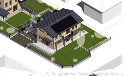 The same passive house of Cavriago, modeled in Archicad.