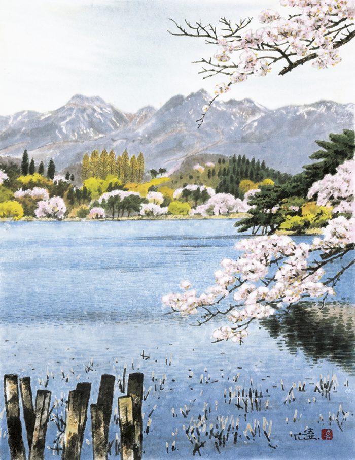 春の南湖公園