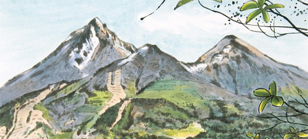 磐梯山を望む(猪苗代町)