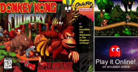 Play Super Nintendo SNES games Donkey Kong Country