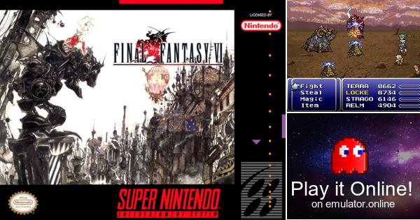 Play Final Fantasy 6 English On Super Nintendo