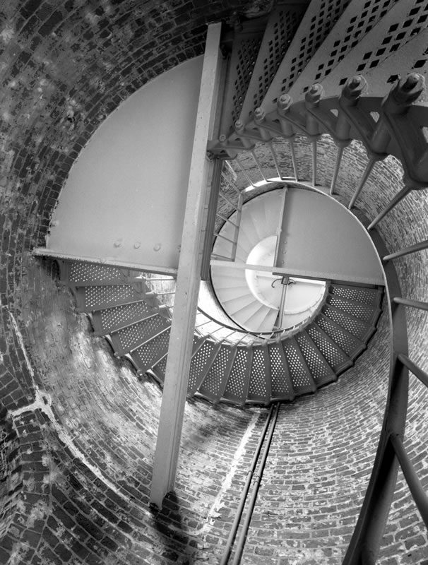 Spiral Staircase in the lighthouse, Cape Blanco, Oregon