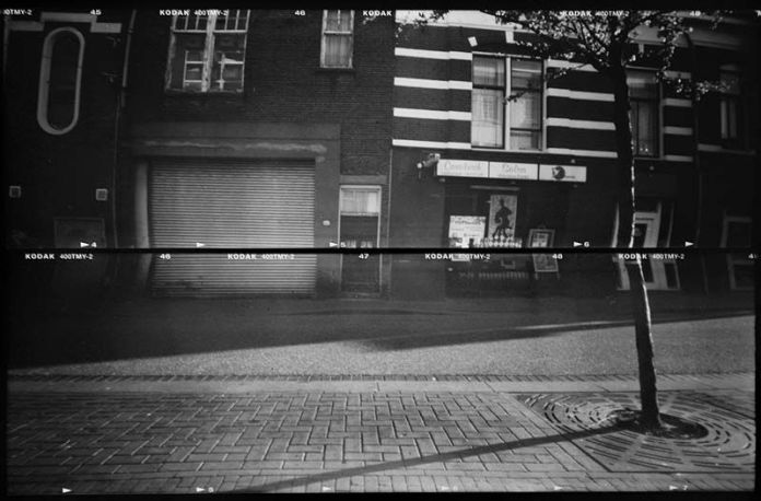 Early morning - Homemade winebox pinhole - Kodak TMAX 400