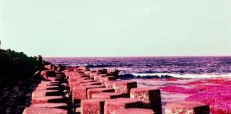 Hexagonal columns - Kodak Aerochrome III Infrared Film 1443 shot at ISO200