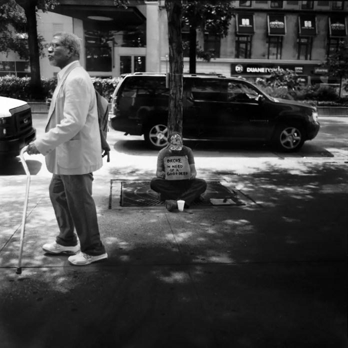 NYC STREET - Mamiya C220F, Ilford Pan F Plus