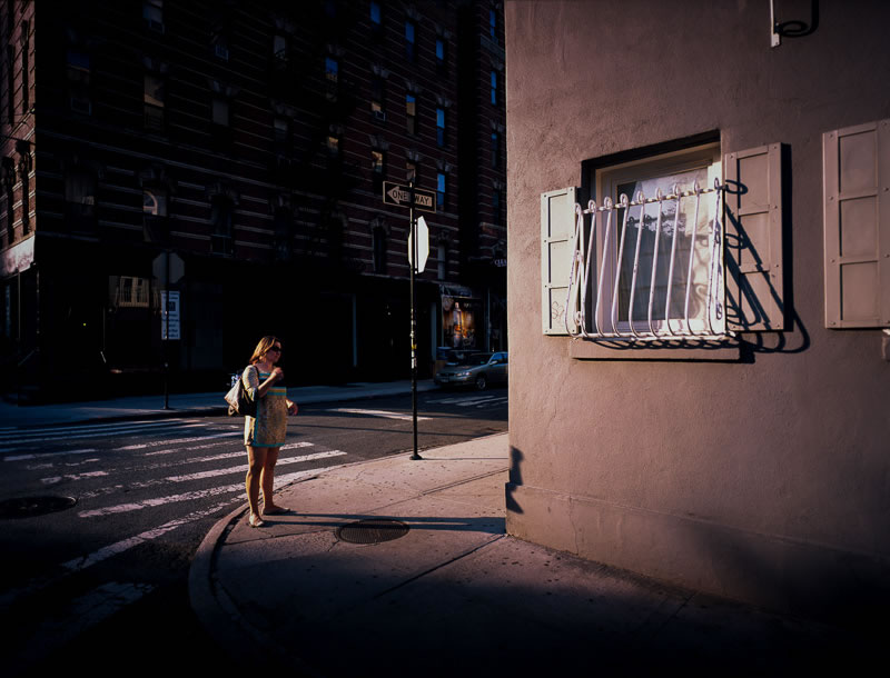 'Decisions' - New York City, 2014 (Mamiya 7 - 43mm f/4.5 - Fuji Provia 100F)