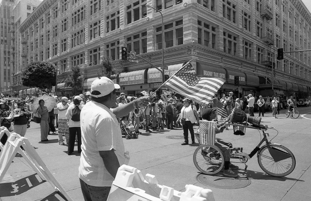 May Day Rally in DTLA   Arista Premium 400 ISO + Olympus OM 1