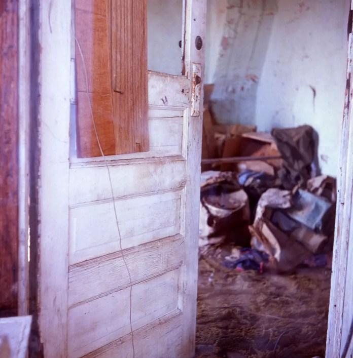 Abandoned house, contents - Keota, Colorado. Yashica D, Fuji Provia 100F