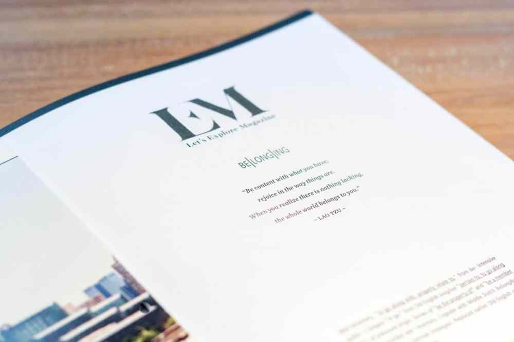 Let's Explore Magazine - issue 00 concept