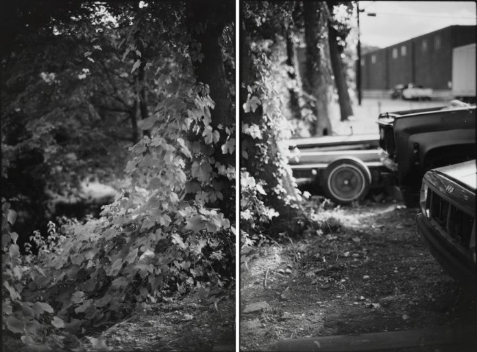 Untitled Diptych from Canonicus' Bow. 2013. 35mm Ilford Pan F+, Pyrocat HD.